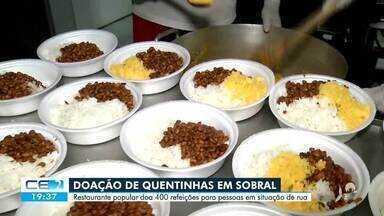 Restaurante popular faz 400 quentinhas por dia para doação - Confira mais notícias em g1.globo.com/ce