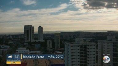 Veja a previsão do tempo para esta quarta-feira (20) em Ribeirão Preto e região - Temperatura deve chegar aos 29º C