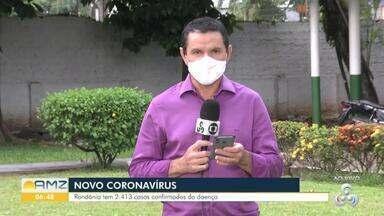 Quase 2.500 pessoas são infectadas do novo coronavírus - Cidade com maior número de casos é Porto Velho.