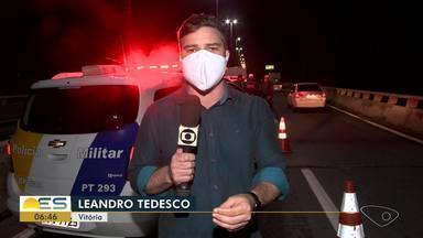 Suspeito de assaltar Transcol é morto pela polícia na Segunda Ponte, em Cariacica, ES - Assalto aconteceu na noite desta terça-feira (19).
