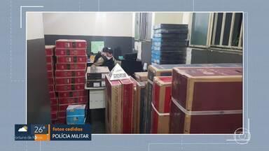 Polícia Militar recupera carga roubada - O material tinha sido roubado em Conselheiro Lafaiete e foi encontrado na região centro-sul de BH.