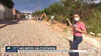 MG Móvel acompanha entrega de obra em Contagem - Ruas Topázio e Pérola receberam infraestrutura e pavimentação, como pediram os moradores.