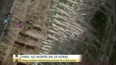 Pará tem recorde no número de casos confirmados e de mortes em 24 horas por Covid-19 - Estado confirmou 17.177 casos de Covid-19 e 1.544 mortes.