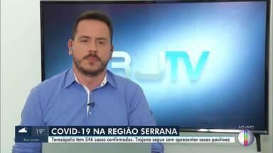 Veja números da Covid-19 na Região Serrana do Rio em 19 de maio de 2020 - Petrópolis já tem 346 casos confirmados, com 25 mortes. Teresópolis chega 546 casos, com 14 óbitos, e Nova Friburgo totaliza 130 casos, com 13 mortes.