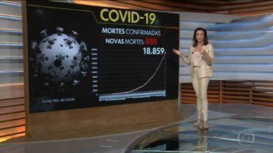 Brasil tem quase 20 mil novos casos de coronavírus e se aproxima dos 19 mil mortos - O Ministério da Saúde confirmou na quarta-feira (20), 888 vítimas fatais da Covid-19, e tem um total de a 18.859 óbitos. Apenas os Estados Unidos registraram mais casos do que o Brasil.