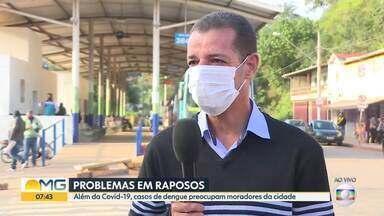 Prefeitura de Raposos fala sobre medidas para conter a dengue e prevenir o coronavírus - Moradores estão preocupados com casos de dengue na cidade que foi atingida por temporal no início do ano.