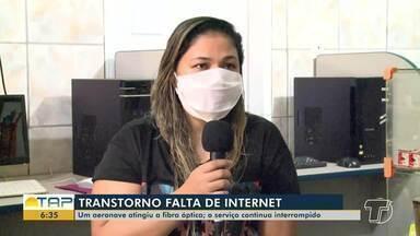Aeronave de pulverização atinge linhão e deixa Santarém e mais 10 municípios sem internet - Equipes trabalham para tentar restabelecer o serviço. O incidente aconteceu na segunda-feira na região de Pacajá, no Pará.
