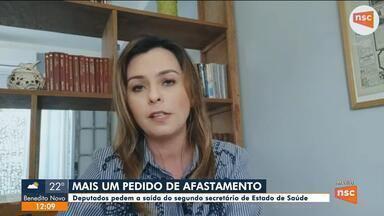 Deputados pedem saída de secretário da Saúde de SC, Dagmara Spautz comenta - Deputados pedem saída de secretário da Saúde de SC, Dagmara Spautz comenta