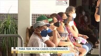Pará tem quase 20 mil casos confirmados de Covid-19 - Governo do estado diz que prefeituras estão demorando para repassar dados de casos e mortes para a secretaria de Saúde.