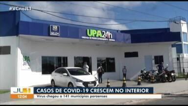 Sespa afirma que número de casos da Covid-19 estão aumentando no interior do Pará - A Secretaria de Saúde Pública do estado afirma que há sinais de que os casos de coronavírus estão se estabilizando na Região Metropolitana de Belém, mas que no interior a situação é oposta.