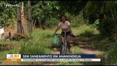 Comunidade em Ananindeua reclama de esquecimento por parte da prefeitura - No Curuçambá, moradores pedem por saneamento básico, asfaltamento e iluminação de qualidade.