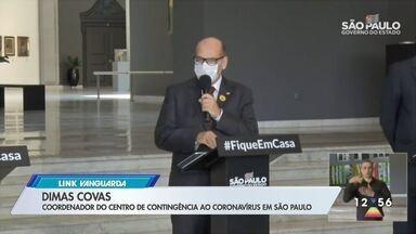 Casos de coronavírus aumentam no interior de São Paulo - Dimas Covas afirmou que contágio está mais rápido no interior.