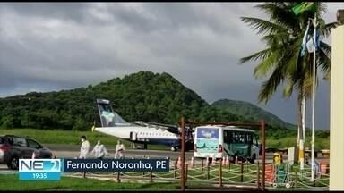 Doze servidores que estavam em Noronha e testaram positivo para Covid-19 voltam ao Recife - Eles fizeram novos exames nesta quinta (21).