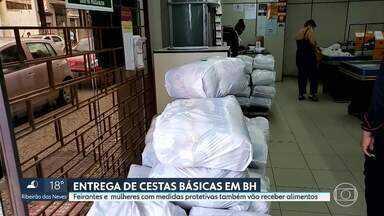 Prefeitura de Belo Horizonte amplia entrega de cestas básicas durante a pandemia - A partir deste mês de maio, as cestas básicas também vão ser entregues a feirantes e mulheres com medidas protetivas.