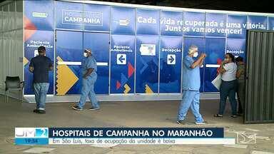 Hospitais de campanha recebem pacientes com sintomas claros da Covid-19 - Diferente da unidade de Açailândia, sobram vagas no hospital da capital maranhense.