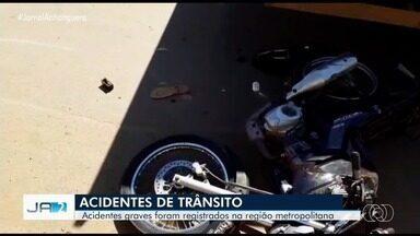 Acidente grave deixa uma pessoa morta em Goiânia - Três acidentes graves marcaram a manhã desta quinta-feira.