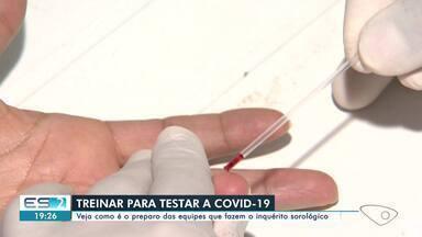 Saiba como é o preparo das equipes que fazem o inquérito sorológico, no ES - Profissionais testam população no ES.