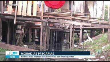 Pesquisa aponta que em Belém, mais metade dos domicílios são inadequados - Pesquisa aponta que em Belém, mais metade dos domicílios são inadequados