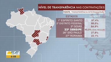 Reportagem aborda a transparência nas contratações em Sergipe - Reportagem aborda a transparência nas contratações em Sergipe.