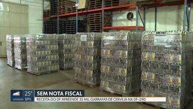 Receita do DF apreende 35 mil garrafas de cerveja sem nota fiscal - Carga foi apreendida na última quarta-feira, na DF-290, no Gama.