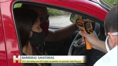 Coronavírus: 92% dos leitos em UTI estão ocupados na grande João Pessoa - Na Paraíba, os representantes da saúde e órgãos de fiscalização fazem apelo à população e alertam para a possibilidade de um colapso na saúde.
