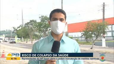 MPF, MPT, secretarias e hospitais da PB alertam sobre risco de colapso no sistema de saúde - Confira os detalhes com o repórter Marques de Souza.