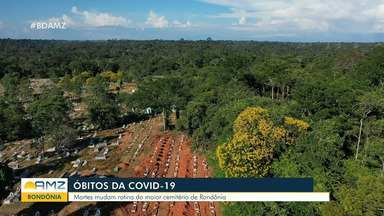 Mortes por Covid-19 mudam a rotina do maior cemitério de Rondônia - Enterros ocorrem de forma restrita.