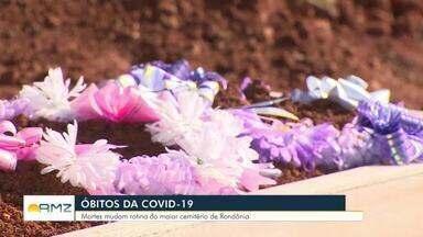 Aumento de mortes tem alterado a rotina no maior cemitério de Porto Velho - O cemitério de Santo Antônio não está fechado, mas a direção não recomenda visitas.