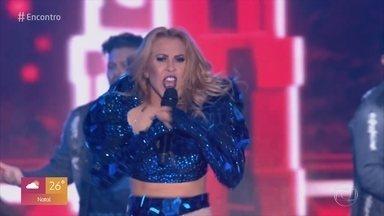 Confira trecho do DVD inédito de Joelma - Eduardo Sterblitch esquenta para dançar ao som da cantora