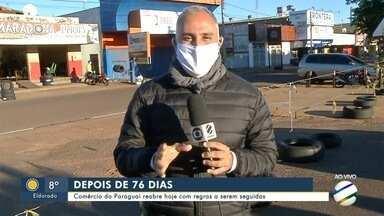 Com geada e temperatura de 6ºC comércio reabre nesta segunda-feira no Paraguai - Com geada e temperatura de 6ºC comércio reabre nesta segunda-feira no Paraguai