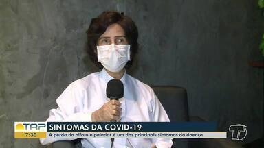 Confira os principais sintomas para Covid-19 - Falta do olfato e paladar são uns dos principais.