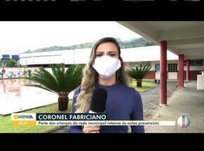 Em Coronel Fabriciano, alunos da rede municipal retornam as aulas - Primeiro dia de aula teve início nessa segunda-feira (25).