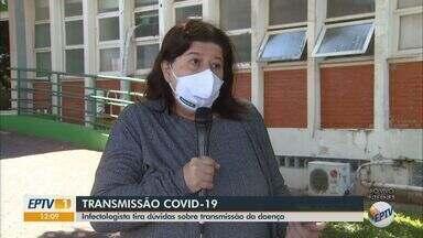 Infectologista de Araraquara tira dúvidas sobre a transmissão de Covid-19 - Médica explica cuidados que curados devem tomar, além de riscos de novo contágio.