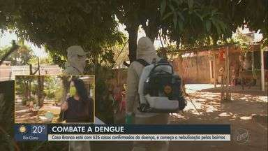 Casa Branca começa nebulização para evitar proliferação de mosquito da dengue - Cidade soma 626 casos confirmados da doença.