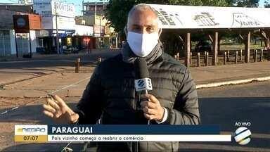 Paraguai começa a reabrir o comércio - Paraguai começa a reabrir o comércio
