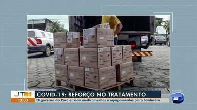 Governo do PA envia medicamentos e equipamentos para Santarém - Cargas tem chegado ao município em aeronave do Graesp.