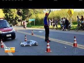 Homem morre ao tentar atravessar a BR-116, em Ubaporanga - Também no sábado, próximo a Santa Bárbara do Leste, um motociclista perdeu o controle da direção e caiu na pista. O homem de 42 anos teve escoriações e fratura em uma das pernas.