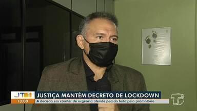 Órgãos de segurança continuam fiscalizando cumprimento de decreto em Santarém - Justiça manteve decreto de lockdown no município.