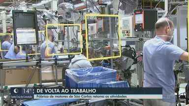 Fábrica de motores da Volkswagen em São Carlos retoma as atividades - Volta foi motivo de alívio para 600 trabalhadores.
