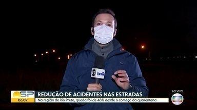 Pandemia reduz número de acidentes em SP - Na região de Rio Preto, queda foi de 48% desde o começo da quarentena.