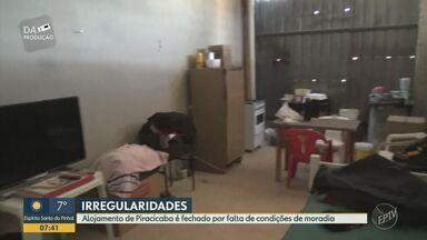 Sindicato pede interdição de alojamento em obra de posto de combustíveis em Piracicaba - Pelo menos seis trabalhadores estavam no local, sendo que apenas dois estavam registrados. Sindicato aponta irregularidades no espaço, entre eles a falta de um banheiro adequado.