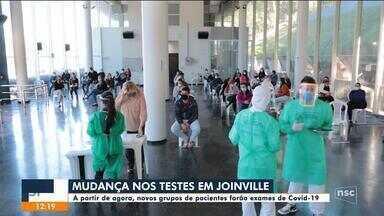 Novos grupos de pacientes fazem testes de Covid-19 em Joinville - Novos grupos de pacientes fazem testes de Covid-19 em Joinville