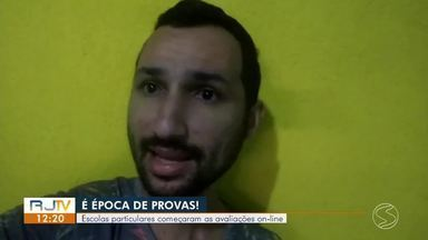 Escolas particulares começam avaliações online no Sul do Rio - Durante a pandemia, as aulas foram suspensas e os alunos começaram a estudar pela internet.