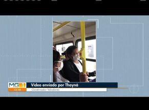 VC no MG: Confira os vídeos enviados pelos telespectadores (Parte 1) - Moradora de Governador Valadares mostra lotação em ônibus.