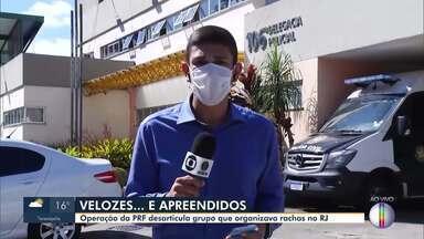 Operação da PRF desarticula grupo que organizava disputas de corridas ilegais no RJ - Foram cumpridos 24 mandados de busca e apreensão na Capital, na Baixada Fluminense e na Região Serrana.