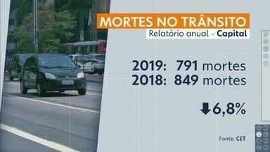Número de mortes em acidentes no trânsito da capital caiu quase 7% em 2019 - Veja os dados do relatório da CET de acidentes de 2019.