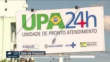Edital da administração da UPA de Itaguaí tem indícios de irregularidades - A licitação para compra de mobiliário etá marcada para esa sexta , quatro deias depois da reinauguração.