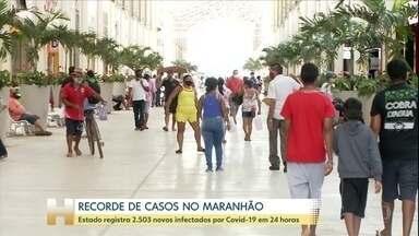 Enquanto reabre comércio, Maranhão registra recorde de novos casos de Covid-19 - Situação nas cidades do interior do estado é mais grave