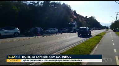 Barreira sanitária é feita na entrada de Matinhos - Ação é para evitar contaminação pelo novo coronavírus.