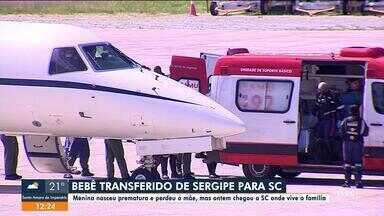 Bebê sergipana que perdeu a mãe em Aracaju está em hospital de SC - Bebê sergipana que perdeu a mãe em Aracaju está em hospital de SC